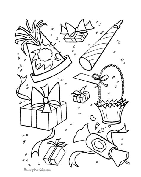 free coloring pages birthday party free coloring pages of birthday party