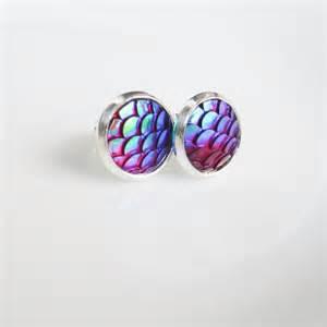 mermaid earrings mermaid scale earrings fish scale earrings mermaid earrings