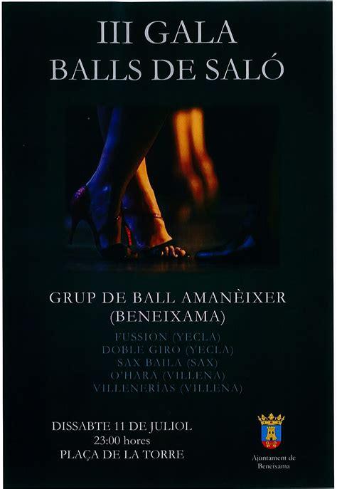 bailes de salon alicante iii gala bailes de sal 243 n p 225 oficial ayuntamiento