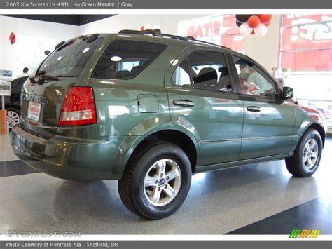 Kia Sorento Green 2003 Kia Sorento Lx 4wd In Green Metallic Photo No
