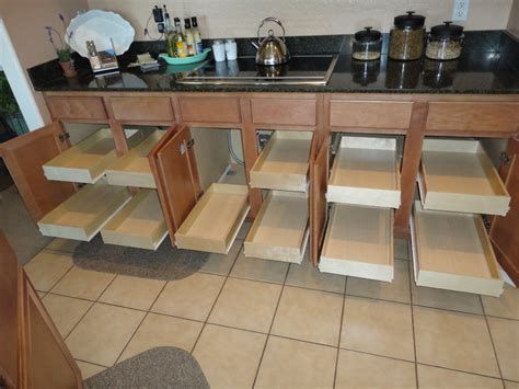 roll out drawers slide slide out kitchen drawers