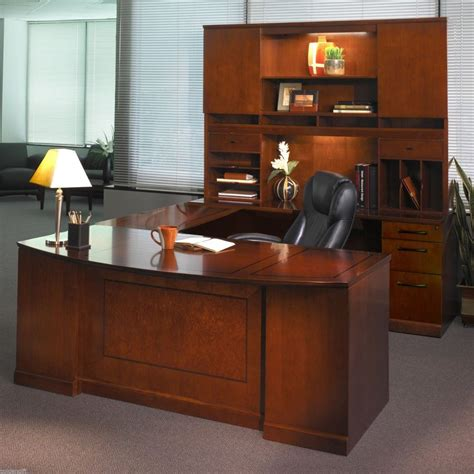 right u shaped executive computer desk office suite
