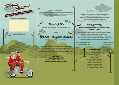desain undangan resepsi pernikahan 37 contoh konsep undangan pernikahan indonesia