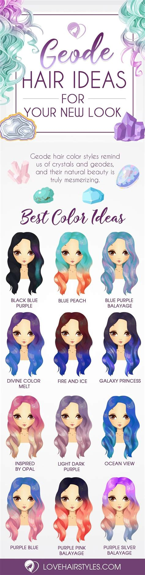 hair color try on trendy hair color try 18 geode hair color styles new