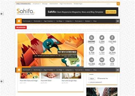 Sahifa Theme Test | sahifa un th 232 me wordpress apprenti webmaster