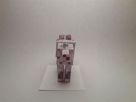 Papercraft Wolf - minecraft tamed wolf papercraft www imgkid the