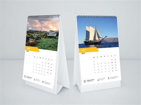 desk calendars mock up calendar