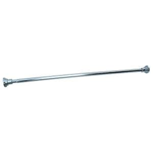 polished chrome drapery rods design house 42 in 73 in steel adjustable shower