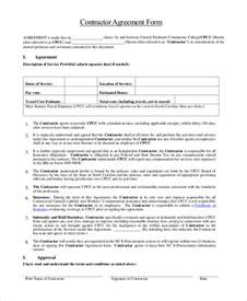 general contractors contract template sle contractor agreement form 9 free documents in