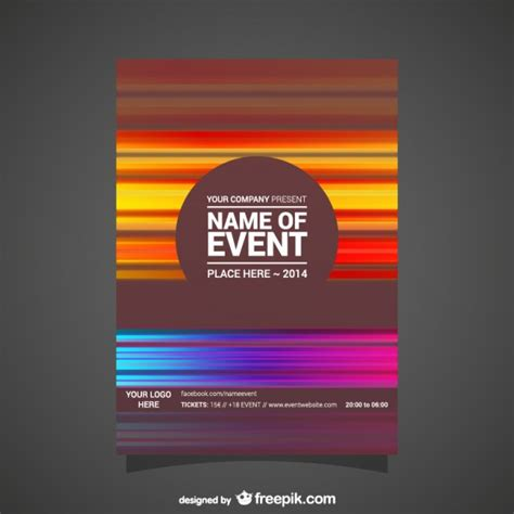 Free Event Poster Design Templates event poster abstract editable design vector free