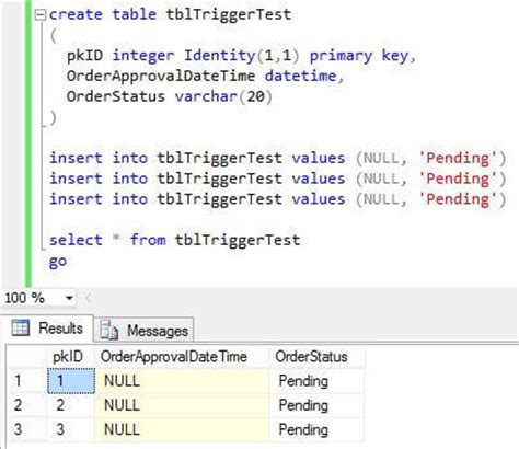 Tsql Create Table by Sql Server Trigger After Update For A Specific Value