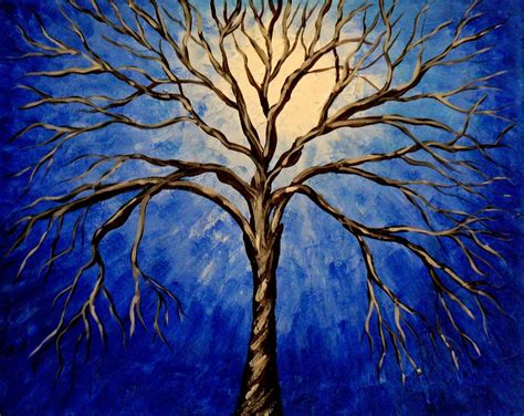 acrylic paint trees abstract tree painting blue amazing wallpapers