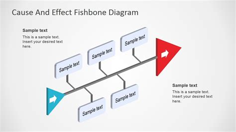 cause effect diagram template fishbone diagram template 3d perspective business