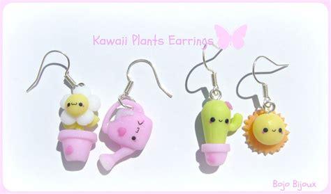 kawaii plants earrings by bojo bijoux on deviantart