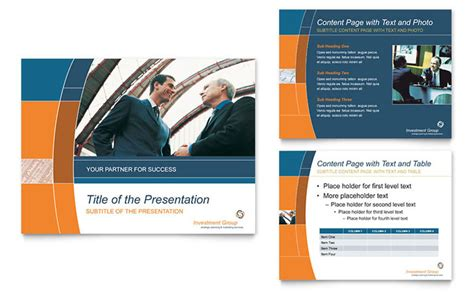 Investment Services Powerpoint Presentation Template Design Investment Presentation Powerpoint Template
