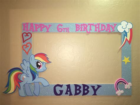 Photo Frame Pony rainbow dash my pony photo booth frame to take pictures birthday 163 36 20 picclick uk