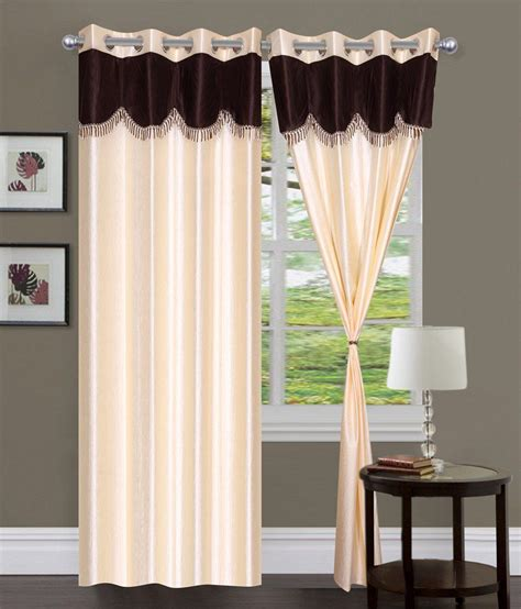 brown lace curtains paisa worth plain cream brown lace curtain 1pc pur258 1