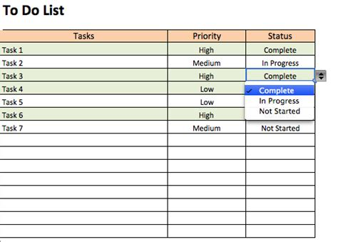 Things To Do List Template Excel by Interactive To Do List Template Free To Do List
