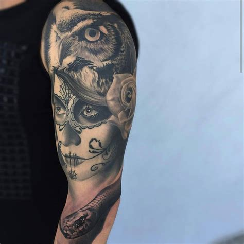 catrinas tattoo catrina owl and snake best ideas gallery