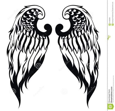 tattoo angel vector hand drawn angel wings stock photo image 31463590