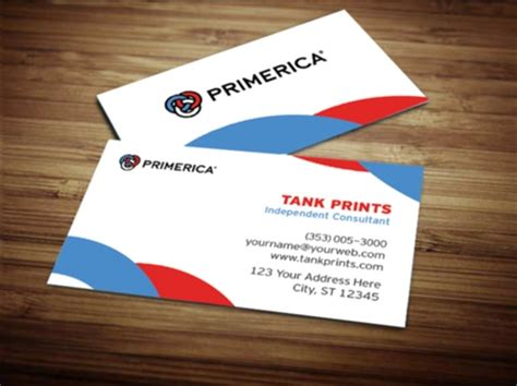 primerica business card template primerica business card design 1