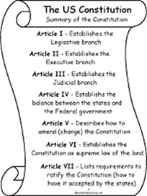 7 sections of the constitution the 7 articles of the us constitution