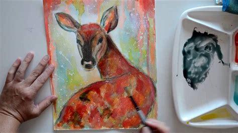 watercolor deer tutorial tutorial how to paint a watercolor deer youtube