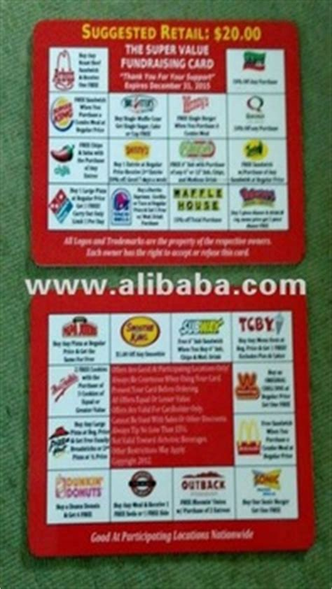 Discount Mcdonalds Gift Cards - plastic fast food discount card mcdonald s tbcy dominoes papa johns burger king