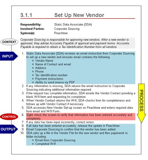 work manual template bti rapid documentation how to