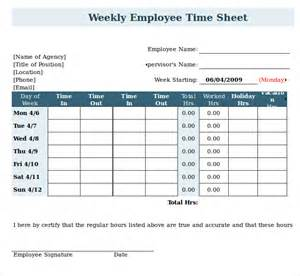 Weekly Timesheet Template Excel Free by 12 Weekly Timesheet Templates Free Sle Exle