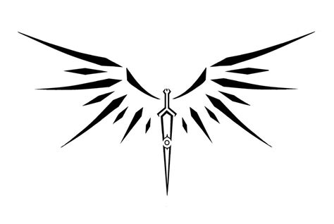 tribal winged helmet and crossed sword tattoo designs