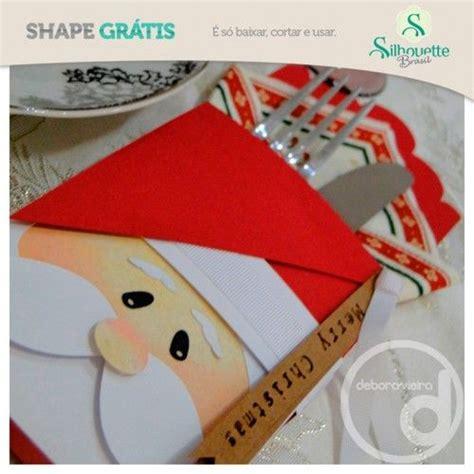 free diy 3d cut file from silhouette brazil santa cutlery holder natal