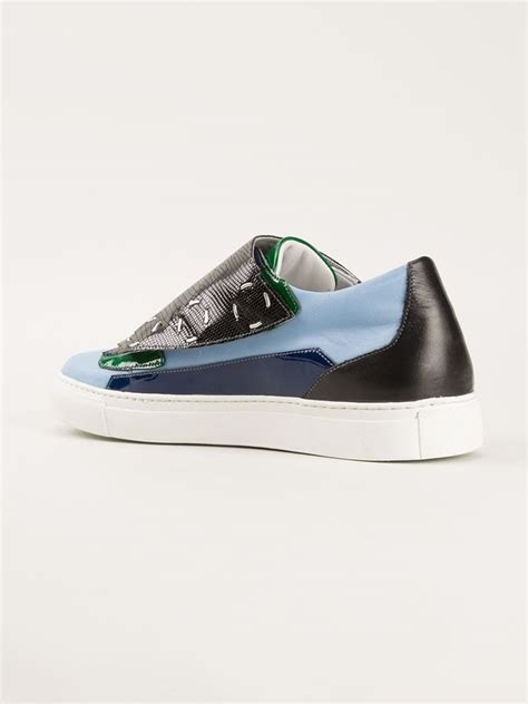 raf simmons sneakers raf simons stylised sneakers in blue for lyst