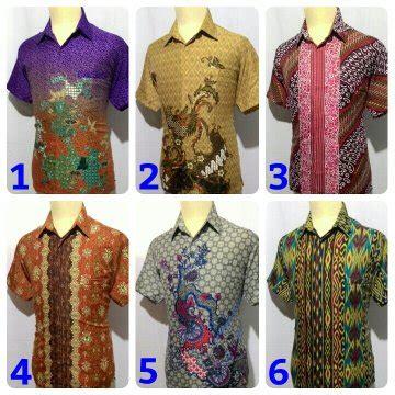Batik Sutera Pria jual beli kemeja batik pria baju batik cowok semi