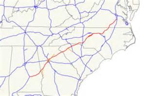 map of i 85 in carolina interstate 85 the free encyclopedia