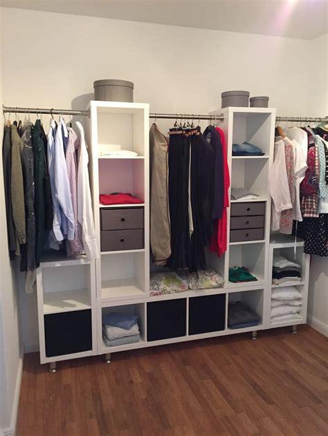 ikea walk in closet hack kleiderschrank ikea kallax stangen und die f 252 223 e 252 ber ebay
