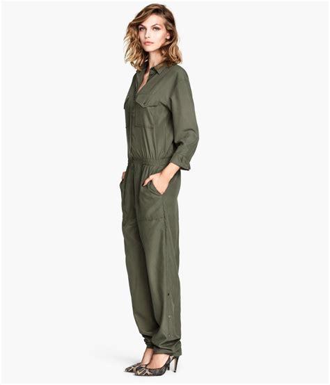 Jumpsuit M Fashion fashion house h m denies khaki green jumpsuit is based on kurdish fighters