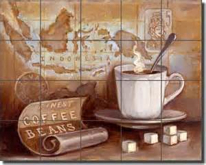 ceramic tile murals for kitchen backsplash ceramic tile mural backsplash kasun kitchen coffee traditional tile murals by artwork on tile