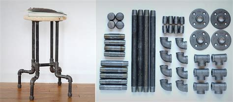Where To Buy Inexpensive Home Decor diy industrial pipe stool