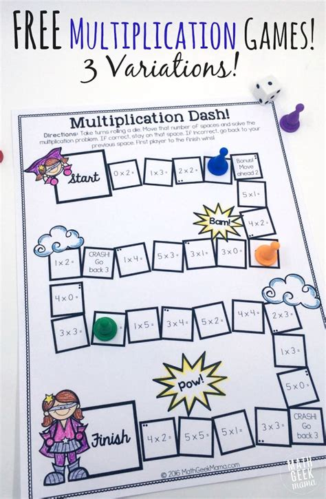 easy printable division games easy low prep printable multiplication games free