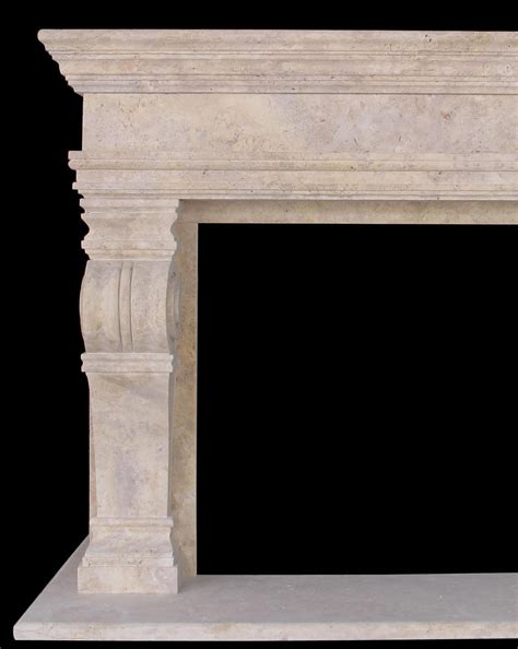 travertine corbel overmantel fireplace new jersey nj