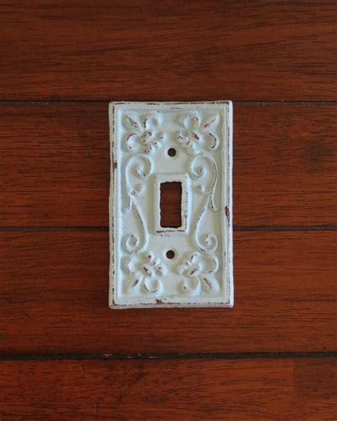 Cast Iron Light Switch Plate Light Plate Cover Shabby Chic Shabby Chic Light Switch Covers