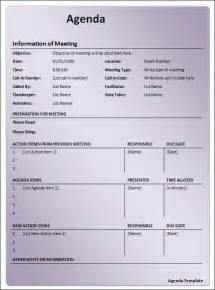 agenda template word free agenda template 12 free documents in pdf