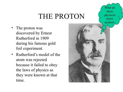 Discovered Proton by History Of The Atom