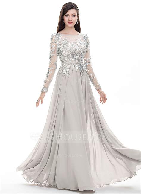 a line princess prom dresses a line princess scoop neck floor length chiffon prom