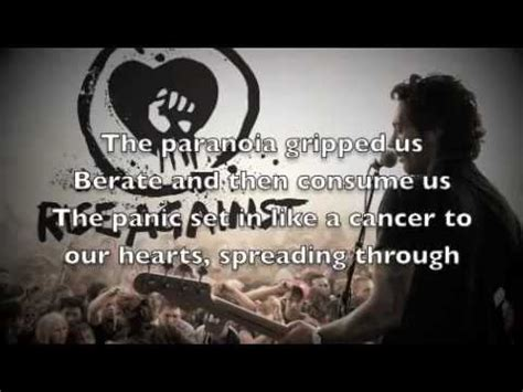 rise against endgame lyrics rise against endgame with lyrics youtube
