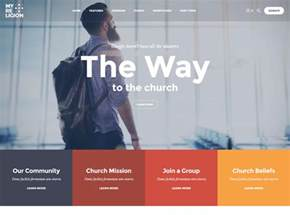 40 best church website templates