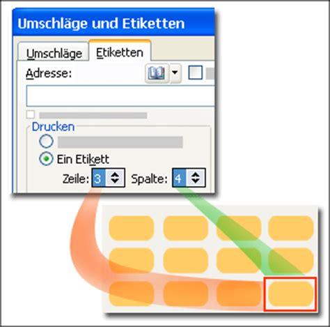 Excel Liste Als Etiketten Drucken by Erstellen Und Drucken Etiketten F 252 R Einzelne Elemente