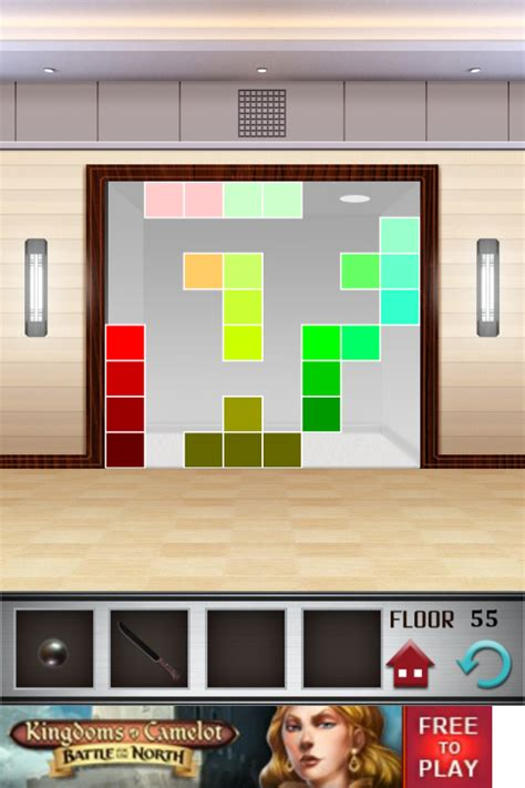 100 Doors Floors Level 55 - 100 floors walkthrough cheats review 100 floors level