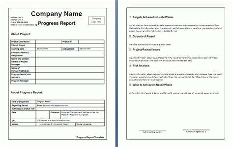 6 Weekly Update Template Invoice Exle Work Update Template